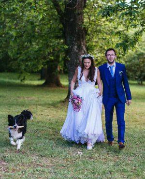 Matrimonio nel bosco di castagni