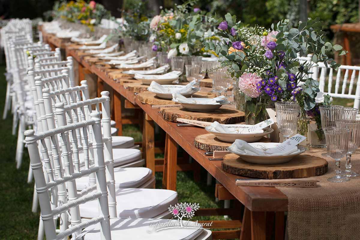 Tavolo Matrimonio Country Chic : Allestimento tavolo di matrimonio i giardini ararat